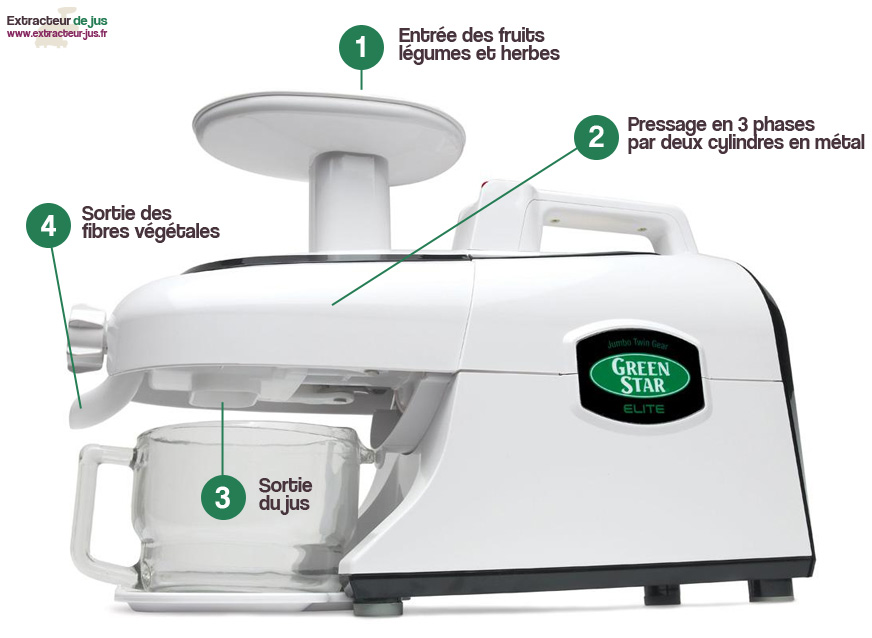 Extracteur de jus Green Star Elite