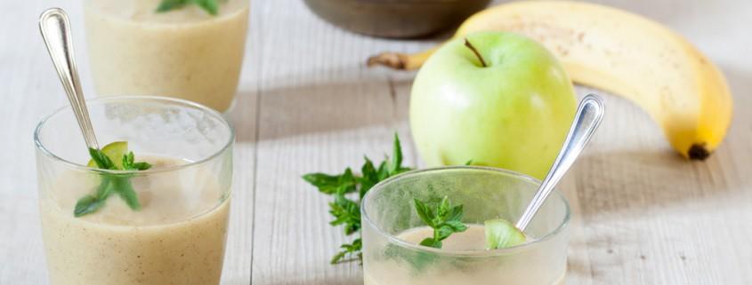 Sorbet banane pomme kiwi à l'extracteur de jus